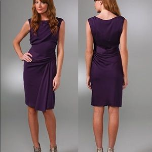 Diane von Furstenberg purple silk dress size 8
